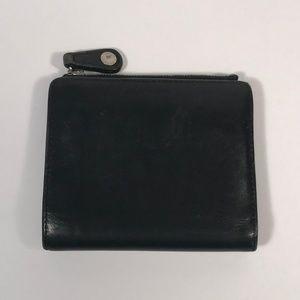 Vintage Coach Bi-Fold Wallet w/ Zipper Closure